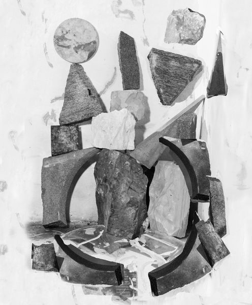 Bricolage with granite and marble by Nico Krijno, Elizabeth Houston Gallery