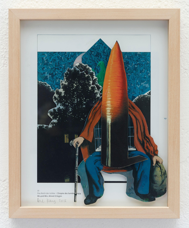 Ohne Titel (Mann mit Rübe) by Nic Hess, Philipp von Rosen Galerie