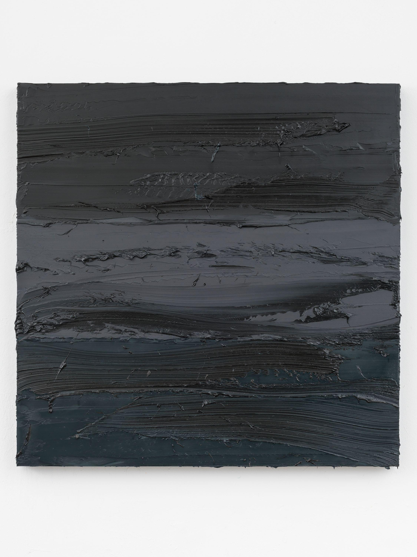 Untitled (Lamp Black/Graphite Grey/Prussian Blue) by Jason Martin, Mimmo Scognamiglio Artecontemporanea