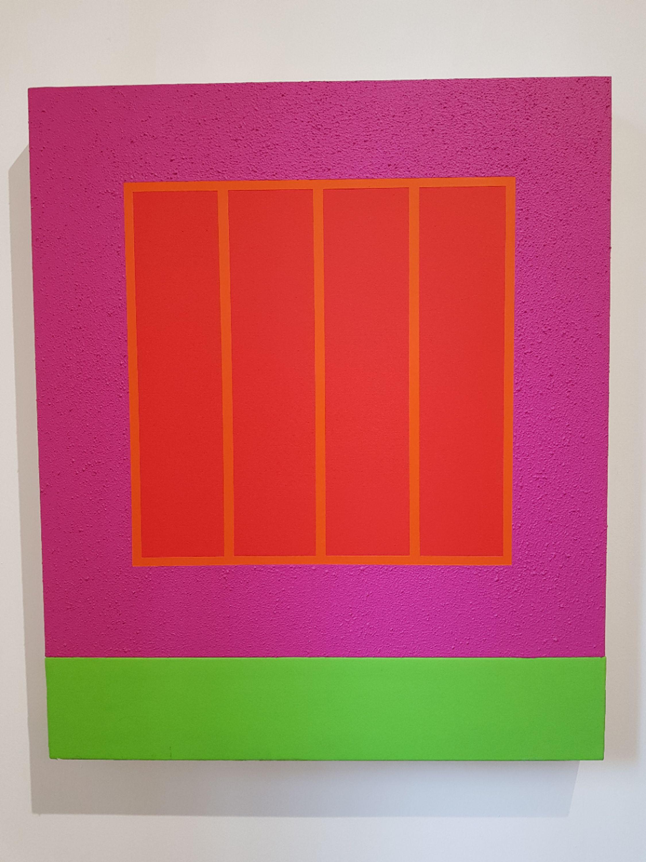 Magenta Prison by Peter Halley, Mimmo Scognamiglio Artecontemporanea