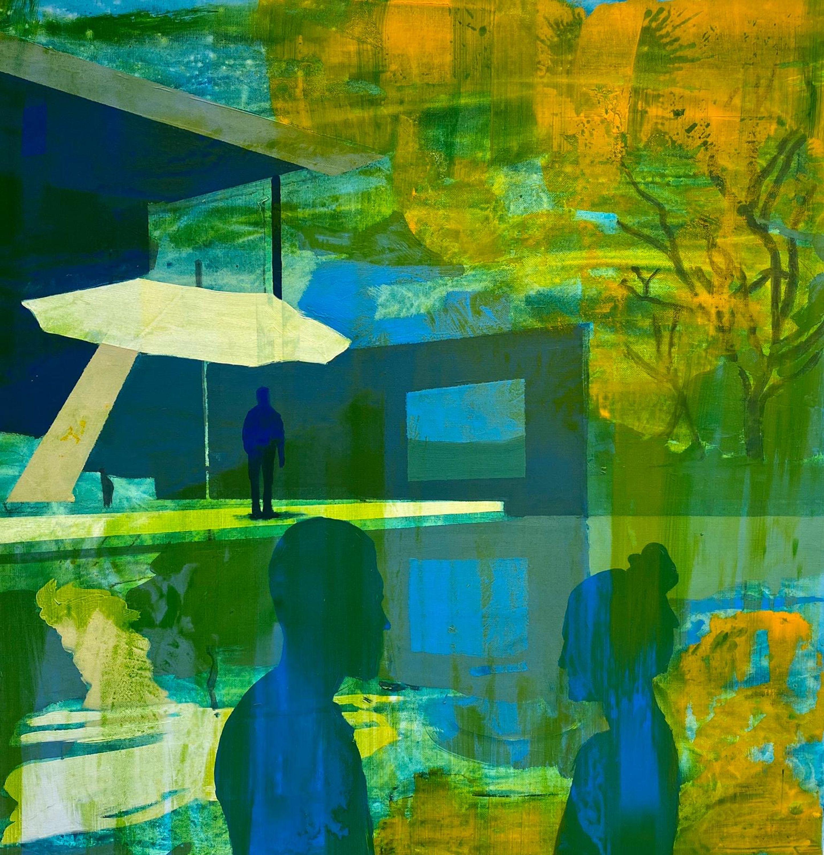 Orange Sky  by Kenneth Blom, Luisa Catucci Gallery