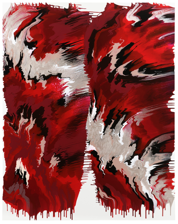 BLACK RED GOLDEN  760 No.1  by Janine Mackenroth, aquabitArt gallery | Berlin