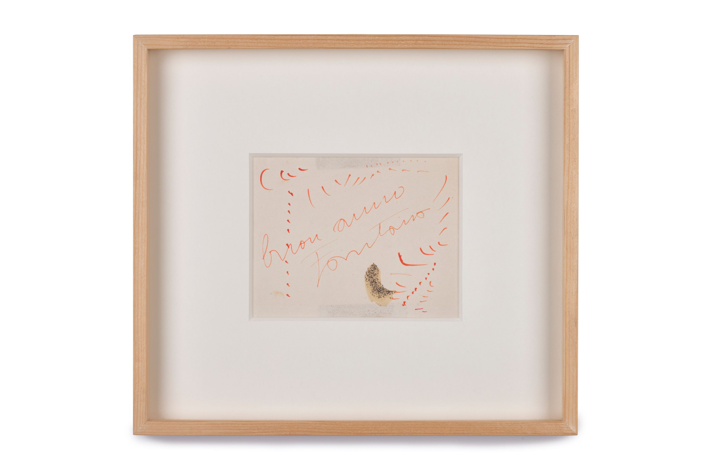 Auguri (cartolina di auguri) by Lucio Fontana, Tommaso Calabro Gallery
