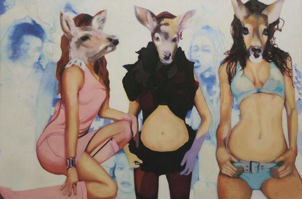 Trio de biches by Nathalie Pirotte, Husk Gallery