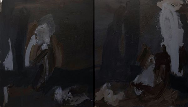 Untitled (Diptych) by Monique Becker, Valerius Gallery