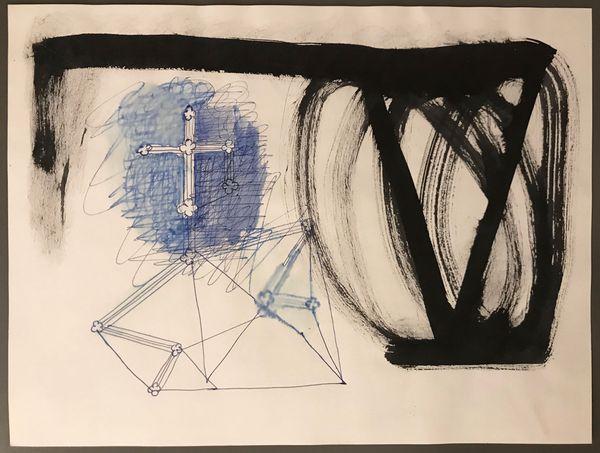 Untitled (Cross) by Walter Swennen, Wellsyke
