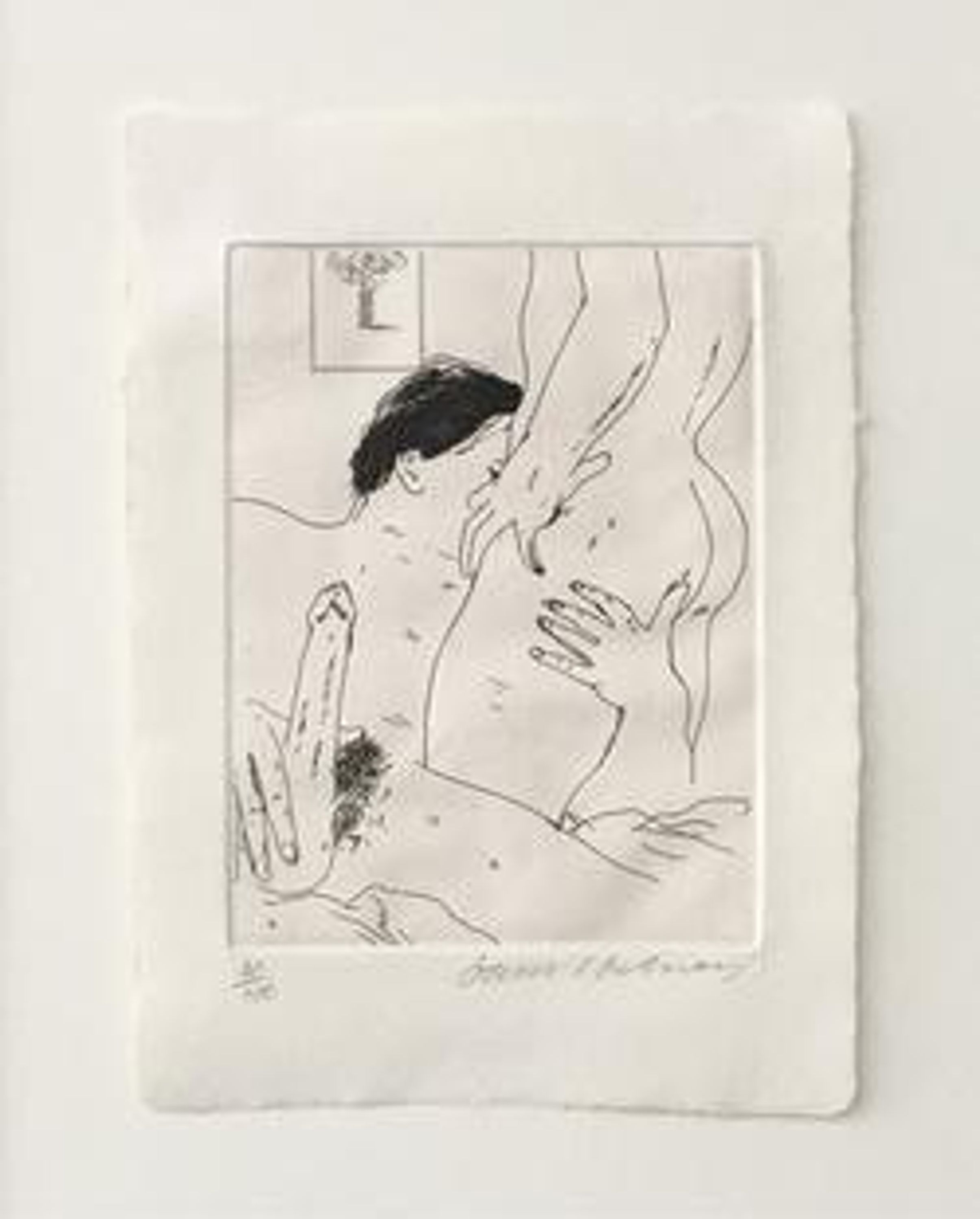An Erotic Etching by David Hockney, vidaralida